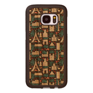 France | Symbols Pattern Wood Samsung Galaxy S7 Case