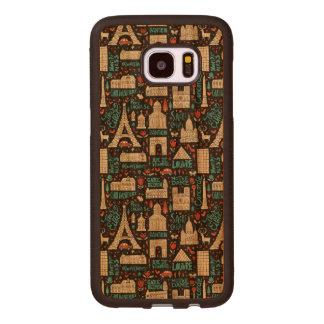 France | Symbols Pattern Wood Samsung Galaxy S7 Edge Case