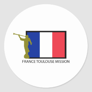 FRANCE TOULOUSE MISSION LDS CTR CLASSIC ROUND STICKER