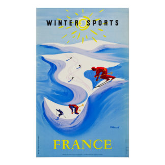 France Travel Poster ... Winter Sports