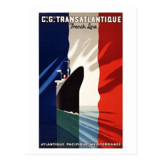 France Vintage Travel Poster Restored Postcard