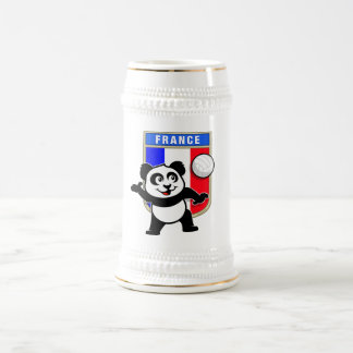 France Volleyball Panda Beer Stein