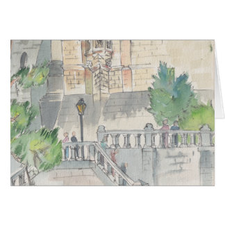 """""""France"""" Watercolor Sketch Greeting Card"""