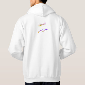 France world country, colorful text art hoodie
