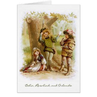 Frances Brundage: Celia, Rosalind, and Orlando Card