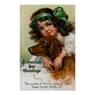 Frances Brundage: Girl with Dog Poster