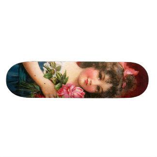 Frances Brundage: Girl with Roses Skateboard Decks