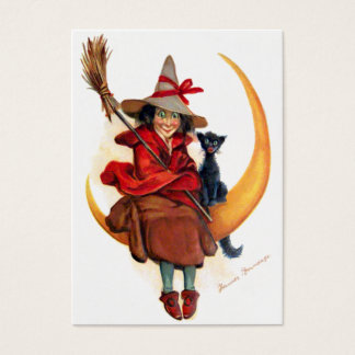 Frances Brundage: Witch on Sickle Moon Business Card