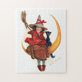 Frances Brundage: Witch on Sickle Moon Puzzle