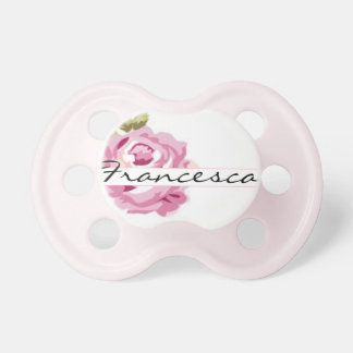"""""""Francesca"""" Personalized Name - Shabby Chic Pacifier"""
