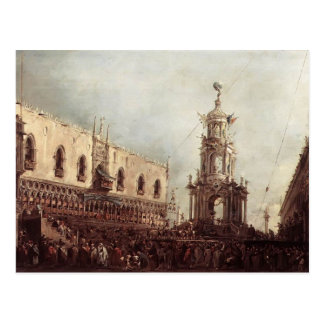 Francesco Guardi- Carnival Thursday on Piazzetta Postcard