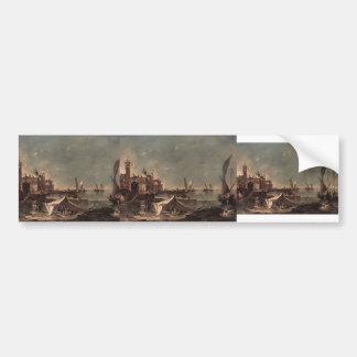 Francesco Guardi- Landscape with a Fisherman's Bumper Stickers