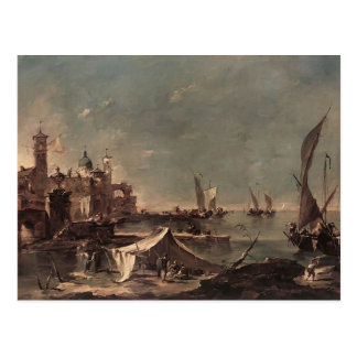 Francesco Guardi- Landscape with a Fisherman's Postcard