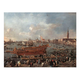 Francesco Guardi- The Doge on the Bucintoro ,Riva Postcard