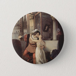Francesco Hayez- The last kiss of Romeo and Juliet 2 Inch Round Button