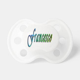 Francesco, Name, Logo, Baby Boys White Pacifier