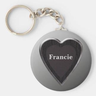 Francie Heart Keychain by 369MyName
