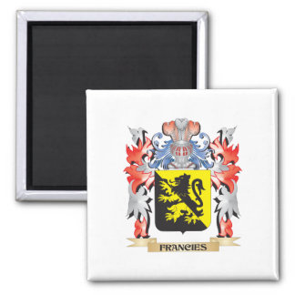 Francies Coat of Arms - Family Crest Square Magnet