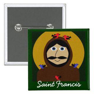 Francis and the Birds 2 Inch Square Button