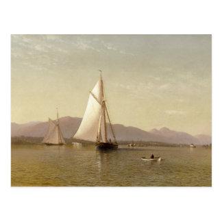 Francis Augustus Silva - The Hudson at the Tappan Postcard