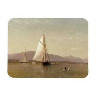Francis Augustus Silva - The Hudson at the Tappan Rectangular Photo Magnet