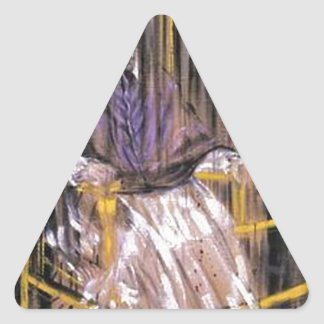 Francis Bacon - Screaming Popes Triangle Sticker