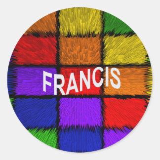 FRANCIS CLASSIC ROUND STICKER