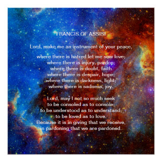 Francis of Assisi prayer Posters