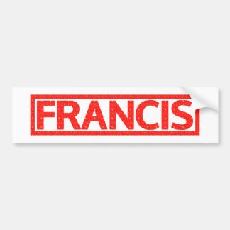Francis Stamp Bumper Sticker