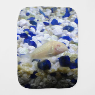 Francis the albino cat fish burp cloth