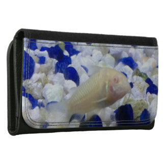 Francis the albino cat fish leather wallets