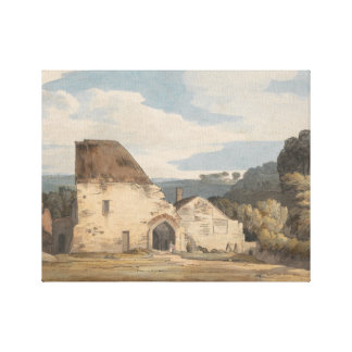 Francis Towne - Dunkerswell Abbey Canvas Print