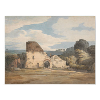 Francis Towne - Dunkerswell Abbey Photo Print