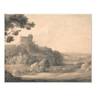 Francis Towne - Oakhampton Castle Photo Print