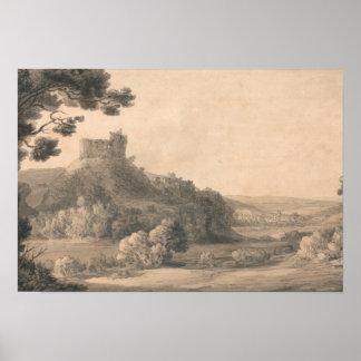 Francis Towne - Oakhampton Castle Poster