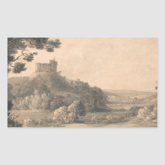 Francis Towne - Oakhampton Castle Sticker