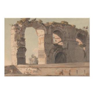 Francis Towne - The Claudian Aquaduct, Rome Photo Print