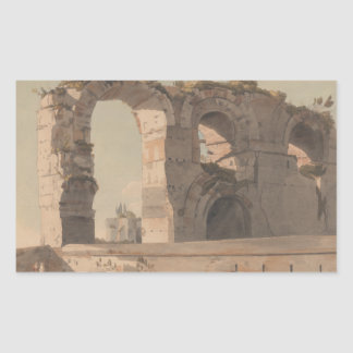 Francis Towne - The Claudian Aquaduct, Rome Sticker