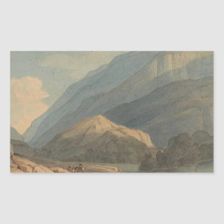 Francis Towne - The Entrance into Borrowdale Sticker