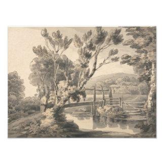 Francis Towne - The Foot Bridge Photo Print