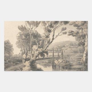 Francis Towne - The Foot Bridge Sticker