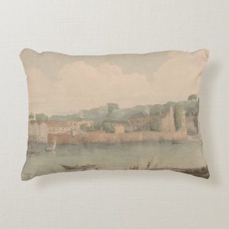 Francis Towne - Vauxhall Stairs, from Millbank Accent Pillow