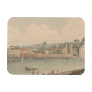 Francis Towne - Vauxhall Stairs, from Millbank Rectangular Photo Magnet