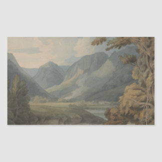 Francis Towne - View in Borrowdale of Eagle Crag Sticker