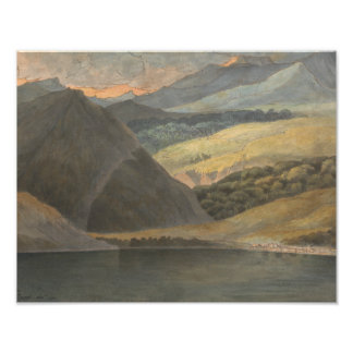 Francis Towne - View on Lake Maggiore at Evening Photo Print