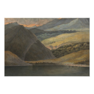 Francis Towne - View on Lake Maggiore at Evening Poster