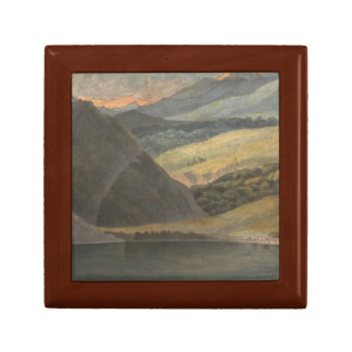Francis Towne - View on Lake Maggiore at Evening Trinket Boxes