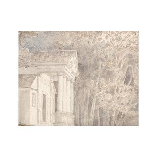 Francis Towne - Werrington Park, Devonshire Canvas Print