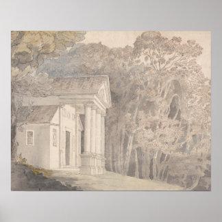 Francis Towne - Werrington Park, Devonshire Poster