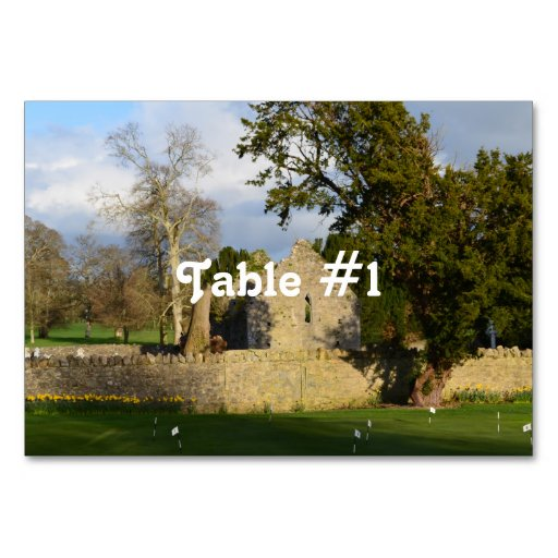 Franciscan Friary Table Cards